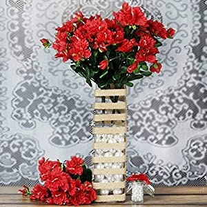 DN_HOM Wonderful 120 pcs Silk Gardenia Flowers for Wedding Centerpieces Arrangements Bouquets (Red)