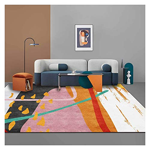 GJCC Rectangle Carpet Indoor Outdoor Area Rugs for Living Room Soft Comfort Bedroom Carpet Home Decor Nursery Rugs Kids Play Crawling Mats,Pink,2.5