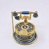 WANGXINQUAN Joyero de diamantes de imitación de oro con diseño de Cloisonne, 7,5 x 8,5 x 4 cm