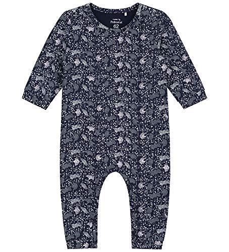 Prénatal baby meisjes rompertje jumpsuit overall-opdruk Indigo blauw