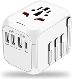 Rag & Sak® Universal Travel Adapter,International Power Adapter Worldwide All in One AC Outlet Power Plug Adapter 3 USB + ...