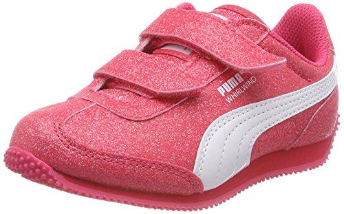 Puma Whirlwind Glitz V PS, Scarpe da Ginnastica Basse Bambino, Rosa (Paradise Pink White), 30 EU