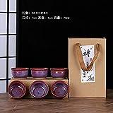 Ksnrang Horno de té de cerámica Horno de Regalo Monocker Productos de Horno Taza Taza Hogar Personalizado Igogo Publicidad - Cobre Rojo Taza Anti-Boca Caja de Regalo 6
