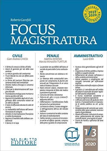 Focus magistratura. Concorso magistratura 2020: Civile, penale, amministrativo (2020): 1