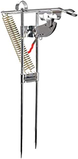 Pysod Suportes de vara de pesca de mola dupla automáticos para terra, suporte ajustável ajustável com ponta automática
