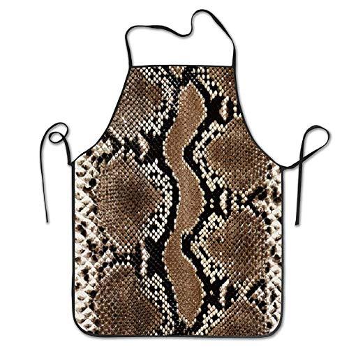 N\A Make & Womens Snake Mamba Skin Küche Kochchef Backschürzen mit verstellbarem Geschenk