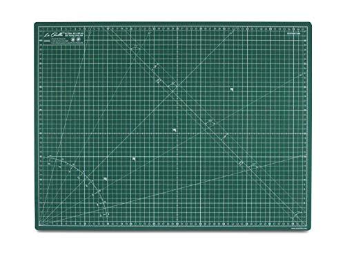 La Canilla  - Base de Corte Autocicatricante Patchwork A2 (60x45cm) Centímetros y Pulgadas con Cuadrícula Cutting Mat de 5 capas para Costura y Manualidades - Alfombrilla de Corte (Verde)