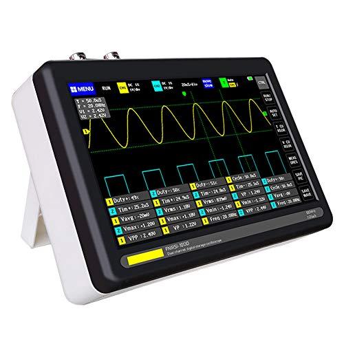 Digitales Tablet-Oszilloskop, tragbares Touchscreen-Speicheroszilloskop-Kit, multifunktionales ultradünnes USB-Oszilloskop mit 2-Kanal-7-Zoll-Bildschirm mit 100 MHz Bandbreite