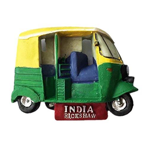 Rickshaw India - Imán de resina 3D para nevera fuerte para recuerdo turístico, imán chino hecho a mano para manualidades creativas para el hogar y la cocina