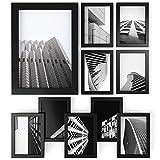 ARTEZA Marcos de Fotos | Tamaño 12,7 x 17,8 cm | Paquete de 10 | Marcos con Acabado en Madera | Frontal de Cristal Transparente | Marcos de Fotos múltiples para Pared y Escritorio