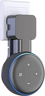 Supmega Echo Dot 3適用 壁掛け スタンド 音を影響せず 省スペース ホルダー ワイヤー収納スペース (黒)