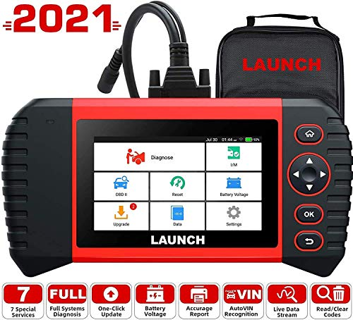 LAUNCH Diagnostic Tool -CRP Touch Pro Elite with All System Diagnostic Scan Tool, Fix ABS Bleeding/SAS/EPB/BMS/DPF/Oil Reset, Android-Based 5.0'' Touch Screen with Wi-Fi