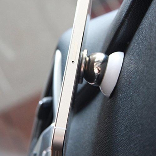 SAVFY 360° Supporto Magnetico Universale Ruotabile da Auto per Apple iPhone 6s Plus / 6 plus / 6s / 6 / 5s/ 5, Samsung Smartphone, Blackberry, HTC, LG, Nokia, ecc - Car Magnetic Air Vent Mount Holder Bianco