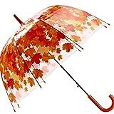 Parapluies Parapluie Transparent Épais De Feuille De Vert De Champignon De PVC Transparent Parapluie Pluie (Couleur : Rouge)