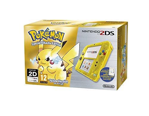 Nintendo 2DS Transparent Yellow + Pokemon Yellow (Limited Edition) (Nintendo 3DS)