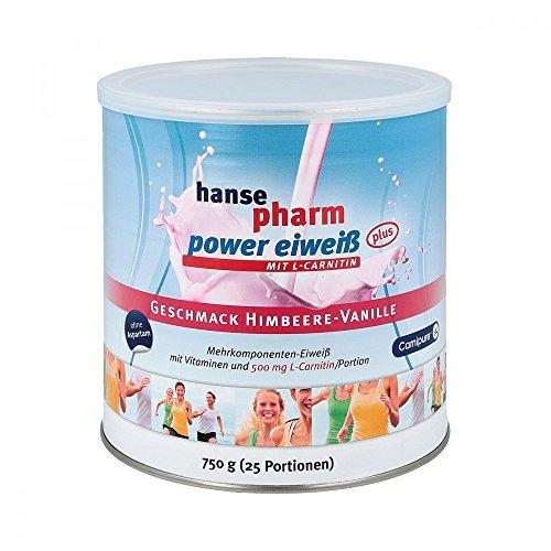 Hansepharm Power Eiweiß Plus Himbeer-Vanille, 750 g