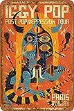 IGGY POP Paris Poster Tin/Metal Style Street Poster Sign