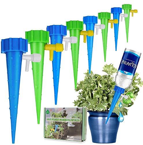 Minetom Pflanzen Bewässerung 12 Stück Bewässerungs-Spikes Einstellbar Bewässerungssystem zur Pflanzen Bewässerung und Blumen Bewässerung ideal als Urlaubsbewässerungssystem (Type1)