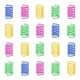 100 Pack Cat Spring Toy, Interactive Cat Toy for Indoor Cats, Lightweight Durable Plastic, BPA-Free Colorful Cat Plastic Coil for Kittens to Swat, Bite, Hunt(Random Color)