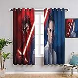 Elliot Dorothy - Tende decorative per tende da finestra, impermeabili, motivo Star Wars the rise of Skywalker, larghezza 84 x lunghezza 84