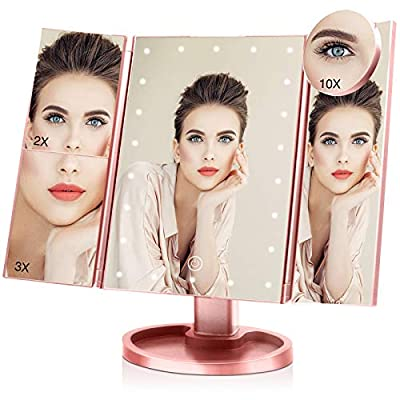 Amazon - 55% Off on Makeup Mirror with 10X 3X 2X 1X Magnification, Touch Screen Vanity