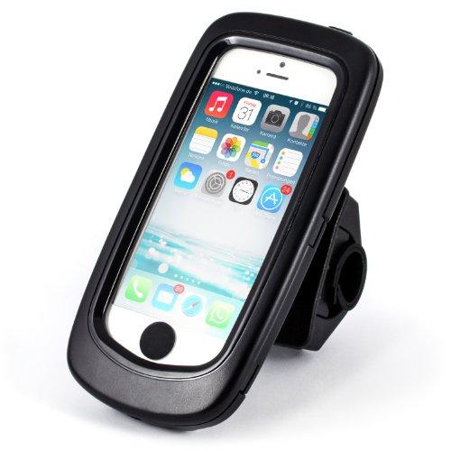 Arendo - Wasserdichte Fahrradhalterung für Apple iPhone SE mit Trageband | Fahrrad Case/Tasche | Handy/Smartphone-Halterung | einfache Bedienung | optimal geeignet für Bike Navigation