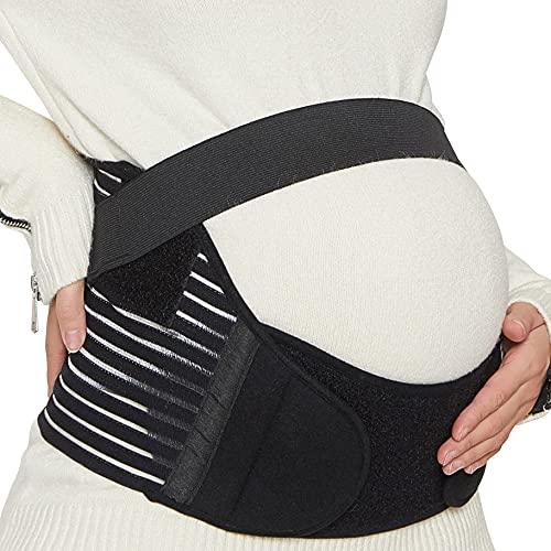Neotech Care - Bauchgurt für die Schwangerschaft - stützt Taille, Rücken & Bauch - Schwangerschaftsgurt (Schwarz, M)