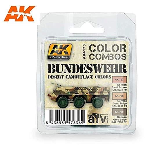 AK Interactive - Bundeswehr Desert Camouflage Color Combo Set