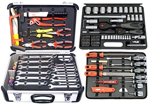 FAMEX 725-38 Universal Werkzeugkoffer mit Steckschlüsselsatz