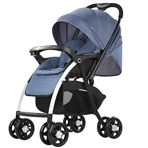 KimCC Baby Pram, Car Seat, Pushchair & Accessories 3 Wheel Pushchair, Car Seat, Carrycot, Mattress, Light Buggy From Birth Adjustable Handle, Small Folding