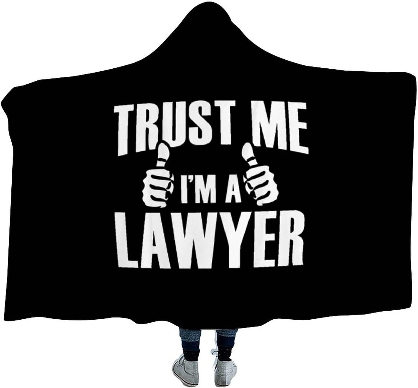Sale Special Price Oakland Mall Trust Me I'm A Lawyer Wearable Soft Wa Hooded Blanket for Cloak