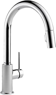 Delta Faucet Trinsic Single-Handle Kitchen Sink Faucet with Pull Down Sprayer and Magnetic Docking Spray Head, Chrome 9159-DST