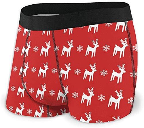 RROOT Heren Ultra Zacht Ondergoed Trunk Kerst Rode Achtergrond Boxer Briefs