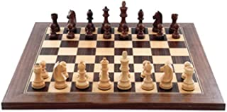Chess Set Wood Handmade European Wooden Chess Set with Board and Hand Carved Chess Pieces Great Travel Toy Set Suitable fo...