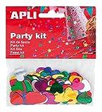 APLI - Bolsa confeti corazones colores 15 mm 14g