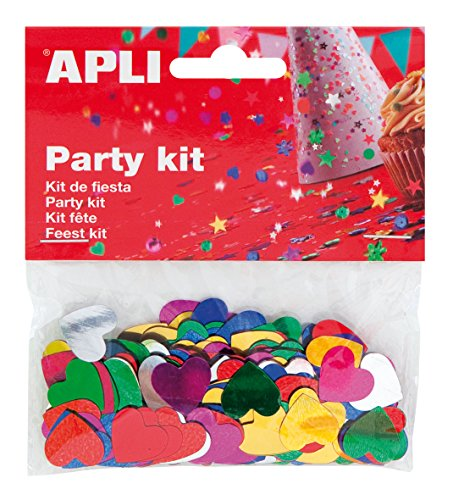 Party Kit Bolsa de Corazones 15mm Metalizadas Apli 13820