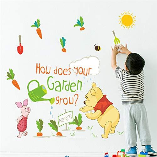 Bande Dessinée Winnie L'Ourson Sticker Chambre Des Enfants Maternelle Famille Décoration Disney Animaux Autocollant Mural PVC Mur Art Affiche