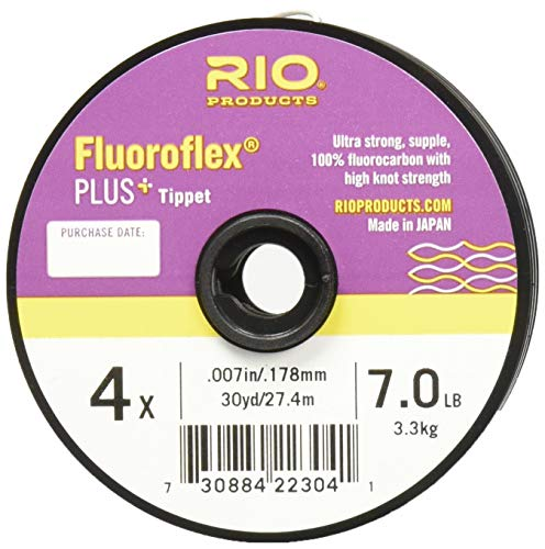 Rio Fly Fishing Tippet Plus Tippet 3 Pack 4X-6X Fishing Tackle, Clear