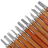 12pcs mejores herramientas Conjunto de madera Cincel formones Xilografía cuchillo cortador scorper mano talla de Artes Oficios Herramientas de bricolaje Herramienta de la carpintería