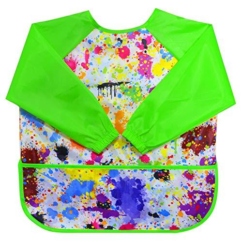 LEEY Children's Art Smock Kids Painting Aprons Art Painting Supplies (Green)