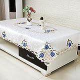 SAZDFY Mantel de Encaje Bordado,Rectángulo Mantel de Crochet para Mesa de Centro Sala de Estar Redonda Cuadrado Telar Mantel de impresión Floral-E 104x178cm(41x70)
