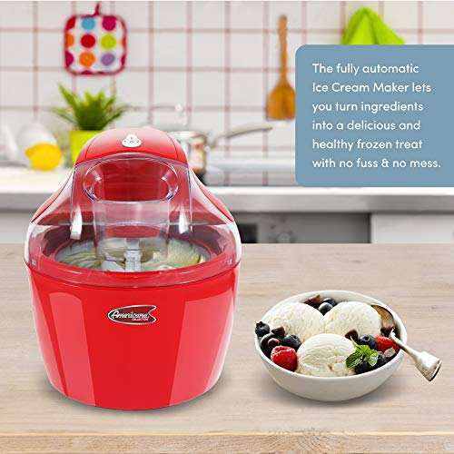Maxi-Matic 1.5 Quart Automatic Easy Homemade Electric Ice Cream Maker, Frozen Yogurt, Sorbet, Gelato Treat, with Recipes, EIM-1400R
