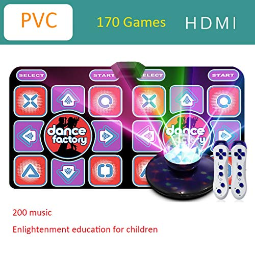 Hoge kwaliteit 2020 Dance Mat Game, 170 running game PC-TV Dual-use interface Dance Mat Game Tv 200 Songs Wireless Twee personen Huis Somatosensorische Dancing Machine -dansmat game tv