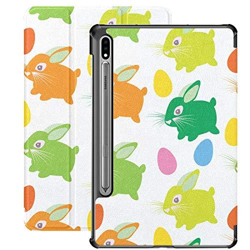 Copia de Trama Easter Bunny Funda Galaxy Tab S7 Plus 2020 con Textura fluida para Samsung Galaxy Tab S7 / s7 Plus Funda Samsung Galaxy Tab S7 Funda Trasera con Soporte Funda para Tableta Galaxy Tab S
