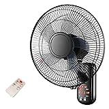 AYXC Ventilador De Pared Fan Silencioso,con Mando A Distancia, 3 Niveles De Velocidad, Temporizador, Modo Noche,Ventilador Industrial,Sala De Estar Dormitorio