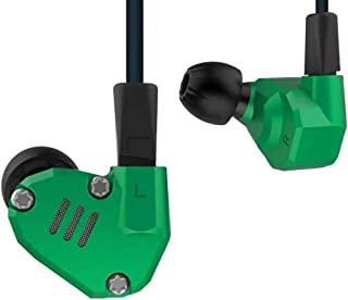 KZ ZS6 HiFi Quad Driver Earphones 2DD+2BA with Extra Bass, Detachable Cable,Without Mic, Green