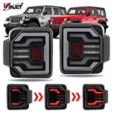 Winjet Tail Lights - Renegade Series by Winjet Compatible with [2018 2019 2020 Wrangler JL] DRL LED Sequential Tail Lights (Smoke)