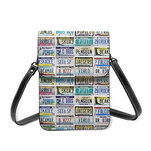 Cell Phone Purse License Plate Map Wallet Crossbody Bags For Women Lightweight Shoulder Bag