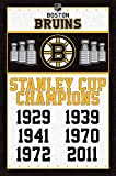 Boston Bruins - Champions Poster Drucken (55,88 x 86,36 cm)