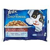 Felix Le Ghiottonerie Gatto con Manzo e con Pollo, 4 x 100 g -...